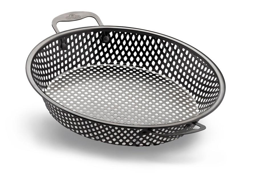 napoleon edelstahl grill wok korb. Black Bedroom Furniture Sets. Home Design Ideas