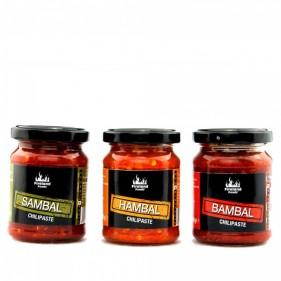Chilipasten 3er-Set (Sambal, Hambal und Bambal)