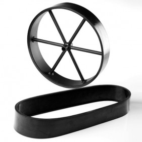 Gummilauffläche für 16 Räder, Breite 7 cm (Paar)