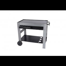 Servier- & Grillwagen aus Holz & Metall