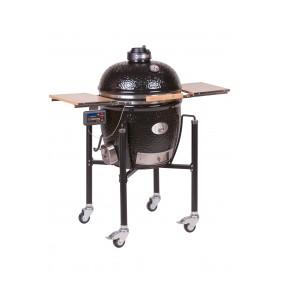MONOLITH CLASSIC BLACK BBQ Guro inkl. Gestell und Seitentische