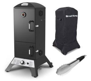 Broil King Vertical Gas Smoker | August Angebot: inkl. Abdeckhaube und Grillzange gratis dazu