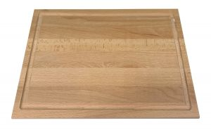 Hendi Schneidbrett rechteckig - Buche natur, 38x28 mit Saftrille