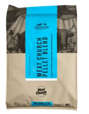 Traeger Hartholz Pellets | Meat Church Blend | Limitierte Pellet Mischung | 8 kg