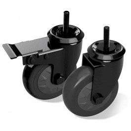 BGE Schwenkrollen Set für Akazientisch oder Modulküche (2 Stk.)