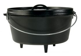 Lodge Camp Dutch Oven, Topf mit 3 Füßen, incl. Deckel, ca. 30,5
