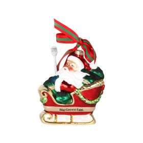 Big Green Egg Christbaumkugel - Weihnachtsmann