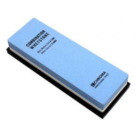 Chroma Schleifstein, Körnung 1200/4000, Maße: 18 x 6,0 x 2,8 cm