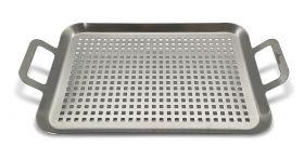 FireRocket Grillpfanne | Edelstahl | 43,5 x 25x5 cm