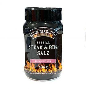 """Don Marco's Spezial Steak & BBQ Salz """"Rosa Steinsalz"""" 400g Dose"""