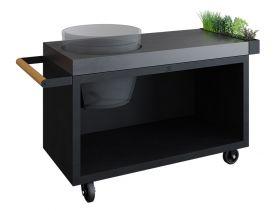OFYR Kamado Table Black 135 PRO Beton BGE