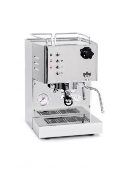 Quickmill 4100 Pippa Set mit Kaffeemühle Eureka Mignon Silenzio Chrom, Sudlade & Tamperstation mit Tamper