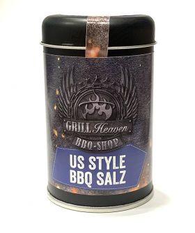 US-Style BBQ Salz, Rauchig intensiv, 140g Streudose