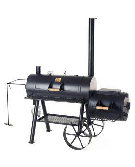 16 JOEs Reverse Flow Smoker inkl. Holz-Seitentisch