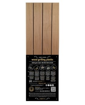 """Wood Grilling Plank """"The Big One"""" / Erle  400*200*19mm"""