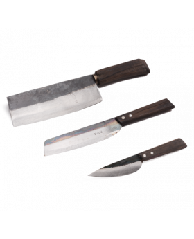 What a Wok  Handgeschmiedetes Asiamesser – 3er Set