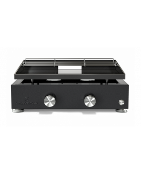 Verycook Plancha-Gasgrill SIMPLICITY 2 Brenner - emaillierte Stahlplatte