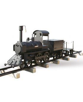 SMOKY FUN Grill Train mit Anhänger und Schienen