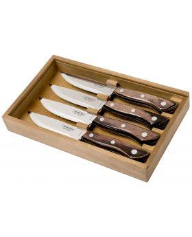 Tramontina Churrasco Premium Bueno Steakmesser-Set braun 4-tlg.