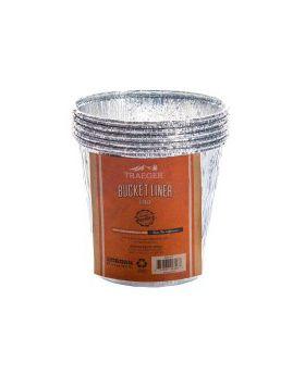 Traeger Pelletgrill Aluminiumeinsatz für Fettauffang-Eimer, 5er Pack