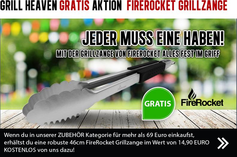 Grill Heaven Gratis-Aktion: FireRocket Grillzange