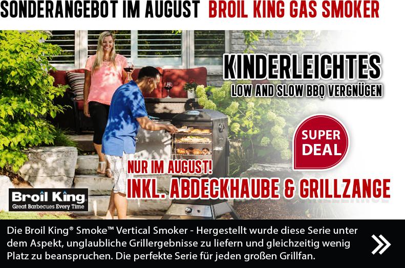 Sonderangebot im August: Broil King Gas-Smoker